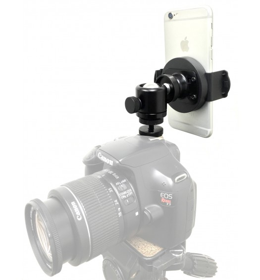 iShot GP5500CM iPhone Smartphone SLR Camera Hot/Cold Shoe Mount  with 360° mini Ball Head
