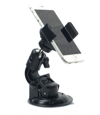 iShot GP5500SC iPhone Smartphone Tripod Mount Adapter Holder + 360° Powerful Suction Cup Mount
