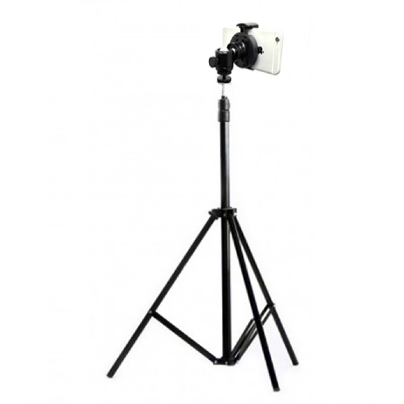 iShot GP5500T iPhone Smartphone Tripod Mount + Portable Tripod Stand and  360° Swivel Ball Head