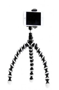 iShot Pro® GP5500S - Universal Cell Phone Tripod Mount Adapter Holder + Flexible Gorilla Joby Pod Stand + Med. Ball Head