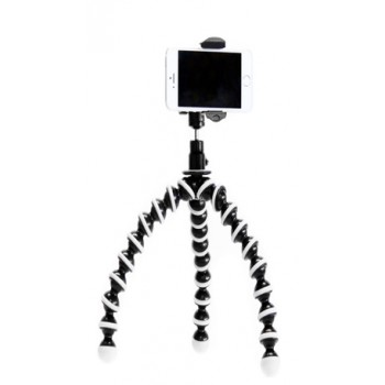 iPhone Smartphone Tripod Mount Adapter Holder + Flexible Gorilla Pod Stand and 360° Ball Head