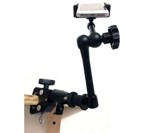 iphone clamp mount, clamp mount for iphone, c-clamp for smartphone, clamp mount arm bracket adapter for iphone, iphone tripod mount, iphone mount, desk tablet mount for iphone, iphone camera mount, smart phone camera mount, iphone tripod mount adapter hol