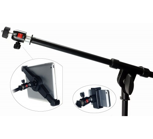 On Stage CM01 Video Camera Digital Recorder Adapter, ipad iphone mic stand screw mount adapter, mic stand screw reducer converter adapter, 5/8 to 1/4 thread screw reducer adapter converter, 1/4 to 5/8 thread screw reducer adapter converter,  MSA-5814