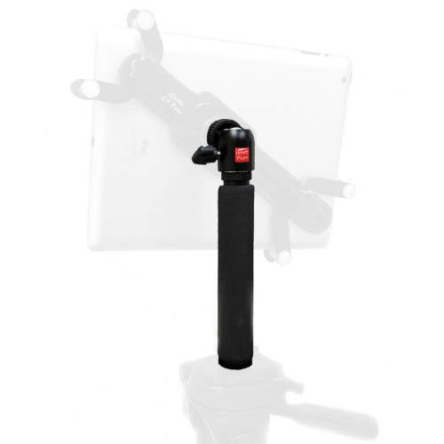 8 inch Extendable Camera Tripod Adapter Pole + 360° Swivel Ball Head / Handheld Monopod for iPad, iPhone and GoPro Mounts