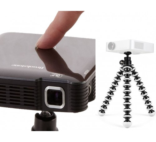 mini projector for ipad, projector tripod stand, pocket projector adapter bracket mount, pocket projector, brookstone optoma axxa telstar epson aaxa pocket proector, pocket projector mount stand holder, tripod stand for pocket projector, pocket projector