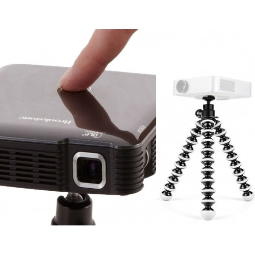 Pocket Projector Flexible GorillaPod Tripod Stand Holder & 360° Locking Swivel Ball Head Bundle Kit