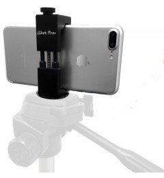 SecureGrip Metal iPhone Universal Smartphone Tripod Monopod Mount Adapter with Bonus Cold Shoe Slot