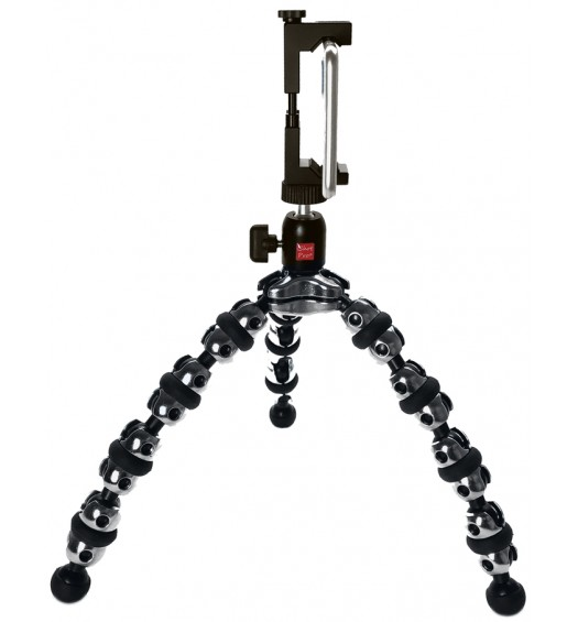 iShot Pro SecureGRIP iPhone Universal Smartphone Tripod Mount Adapter + Flexible TigerPod Tripod Stand + 360° Swivel Ball Head