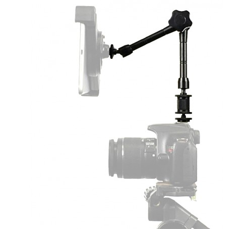 rock solid articulating arm, extension arm bar for photography, extension arm, jib arm, camera accessories, photography led lights, camera flash adapter extension arm bar, camera jib extension bar arm,  articulating arm center lock and hot shoe tripod ada