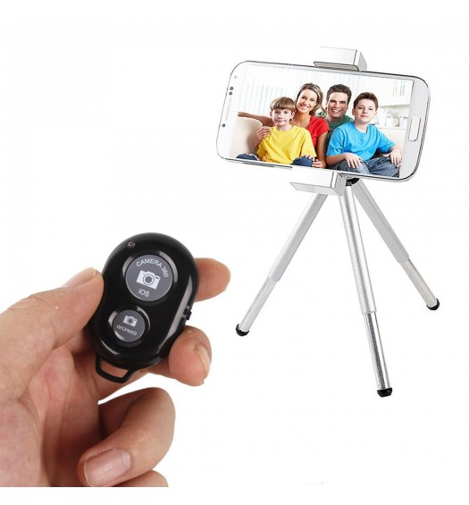 iShot Pro Bluetooth Wireless Remote Control Camera Shutter Release Self Timer for iOS or Android Phones and Tablets - Basic Edition
