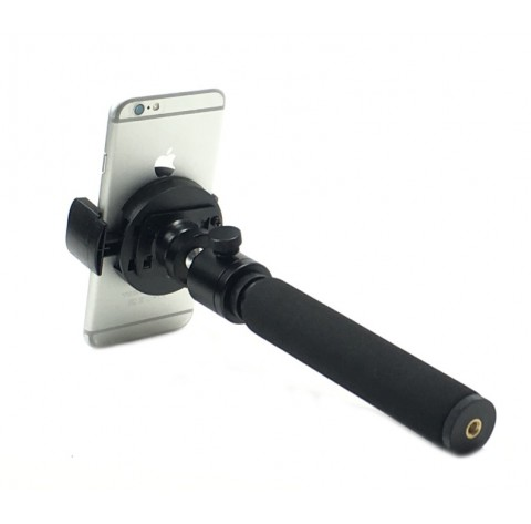 Selfie Stick 7-20 inch Extendable Hand-Held Monopod + 360° Swivel Ball Head with FREE Remote Shutter for All Smart Phones