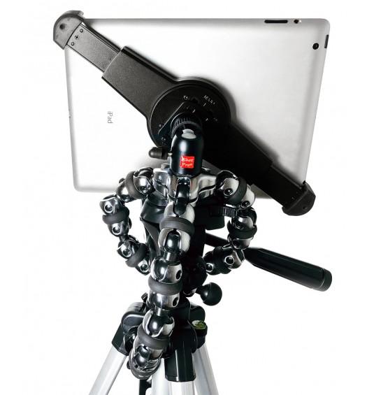 G10 Pro iPad Universal Tablet Tripod Mount Adapter + 360° Swivel Ball Head + Flexible TigerPod Tripod Stand Fits 7-11 inch Tablets