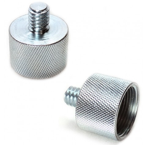 Microphone Music Stand 5/8-inch Female to 1/4-inch Male Thread Screw Reducer Converter Adapter Bushing (2-Pack)
