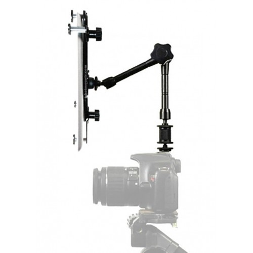 "G7 Pro iPad Universal Tablet SLR Camera Teleprompter Hot Shoe Flash Mount Connection + 11"" Extension Arm - Fits 6"" to 11"" Tablets"