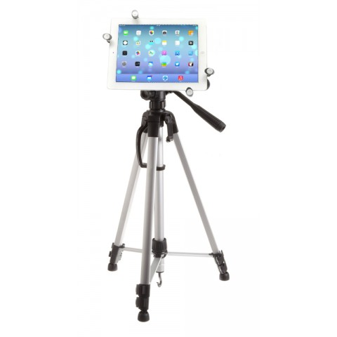 G7 Pro iPad 12345, Air 12, mini, Pro 9.7 Tripod Mount + 60 inch Adjustable Pan Head HD Tripod + Carry Bag